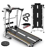GOUJI Foldable Treadmill with Incline,2020 New Foldable Shock-Absorbing Treadmill Treadmill Sports Fitness Equipment Bicycle Treadmill Shock-Absorbing Treadmill