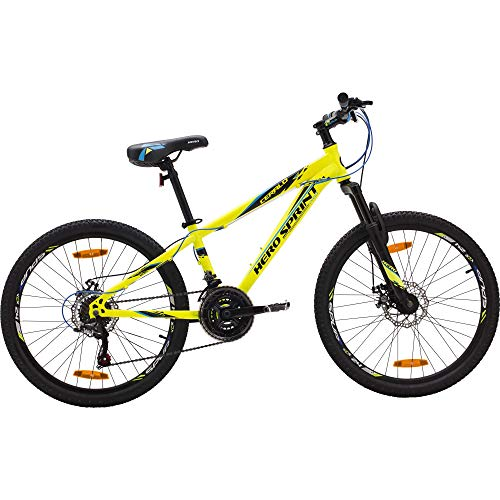 Hero Sprint Pro Ceralo 24T 21-Speed Bicycle (Yellow)