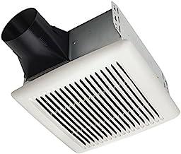 Broan-NuTone A110 Broan Invent Series Single-Speed, Ceiling Room-Side Installation Bathroom Exhaust Fan, 3.0 Sones, 110 CFM