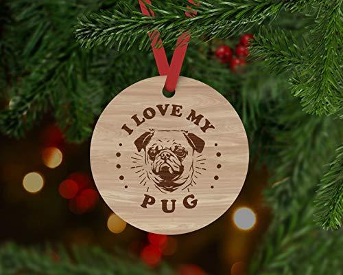 None-brands - Decorazione per cani di carlino, per cani, palline di Natale, decorazioni natalizie, decorazioni per cani, carlino