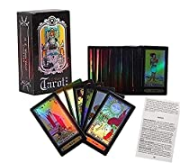IXIGER Tarot Cards Set -78Pcs Fate Forecasting Cards Game Set Vintage Rider Waite Tarot Future Telling Game Cards Set with Colorful Box for Beginner Board Game (English Edition)