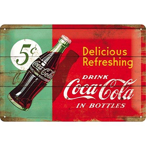 Nostalgic-Art 22229 Coca-Cola – Delicious – Idée de Cadeau pour Les Fans de Coke, Acier, Design Retro pour la décoration, 20 x 30 cm