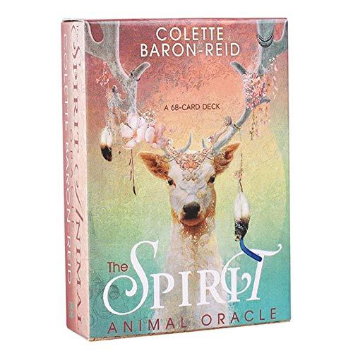 LHJY 68 PCS Tarot Cards, The Spirit Animal Oracle, Juegos De Cubierta, Versión En Inglés, Juego De Mesa para Divertidos Juegos De Fiesta Familiar