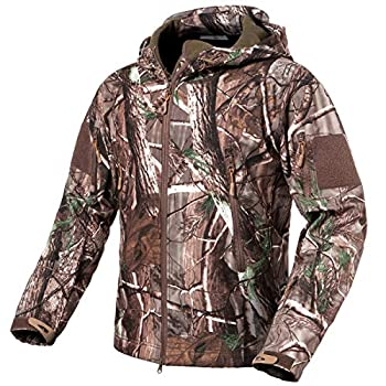 ReFire Gear Men s Soft Shell Military Tactical Jacket Outdoor Camouflage Hunting Fleece Hooded Coat