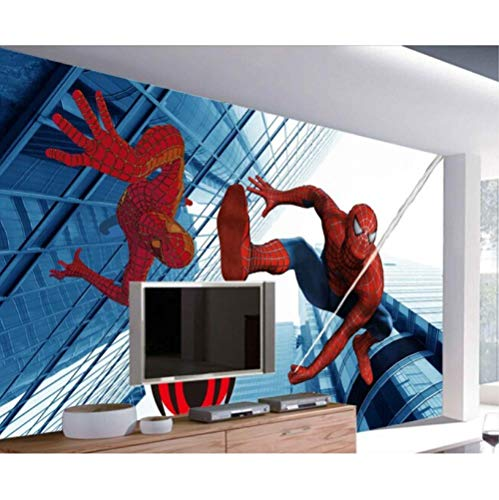 Minimalismus Comic-Cartoon Urban Hero Animationsfilm 3D benutzerdefinierte Tapete Wandbild moderne Retro Hotel Korridor Büro Schlafzimmer Kidroom Sofa TV Hintergrund Wohnkultur-4