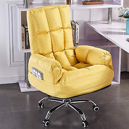 VBARV Modern Comfort Home Office Chair, Adjustable Ergonomic Swivel Task Chair, 360°Rotating and Lifting, Multi-Speed Adjustment, Reclining Design, Foldable High Back, Thick Seat Cushion