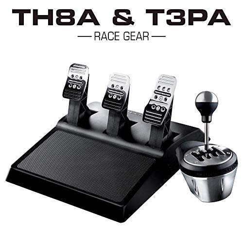 Thrustmaster TH8A & T3PA Race Gear (Schalthebel, H-Schaltung 7+1 / Sequenziell +/-, 3-Pedalset, PS4 / PS3 / Xbox One / PC)