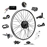 EBIKELING 36V 500W 700C Geared Waterproof Electric Bike Kit - Ebike Conversion Kit - Electric Bike Conversion Kit (Rear/LED/Thumb)