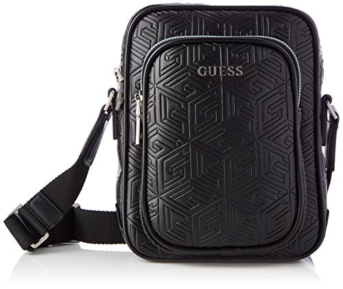 Guess Baldo Top Zip Crossbody, Backpack Man, Black, One Size
