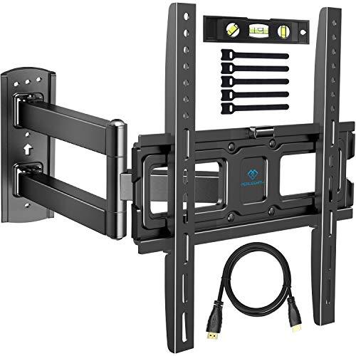 TV Wandhalterung, Schwenkbare Neigbare Halterung für 32-55 Zoll LED, LCD, Plasma, Flach&Curved Fernseher oder Monitor bis zu 27Kg, max.VESA 400x400mm