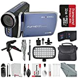 Bell & Howell DV30HD 1080p HD Video Camera Camcorder (Blue) + Case, LED Light, Tripod, 32GB Memory Card, Memory Card Wallet, Card Reader & Xpix Deluxe Cleaning Accessories