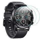 CAVN 3-Stück Kompatibel mit Honor Magic Watch 2 46mm Schutzfolie/Honor Watch GS Pro Panzerglas, Wasserdichtes gehärtetes Glas Anti-Scratch Anti-Bubble Bildschirmschutzfolie Schutz für MagicWatch 2 46mm