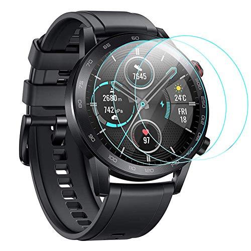 CAVN Proteggi Schermo Compatibile con Honor Magic Watch 2 46mm Pellicola Protettiva [3-Pezzi], Protezione Schermo in Vetro Temperato Durezza Anti-graffio Anti-Bolle Protezione per MagicWatch 2 46mm