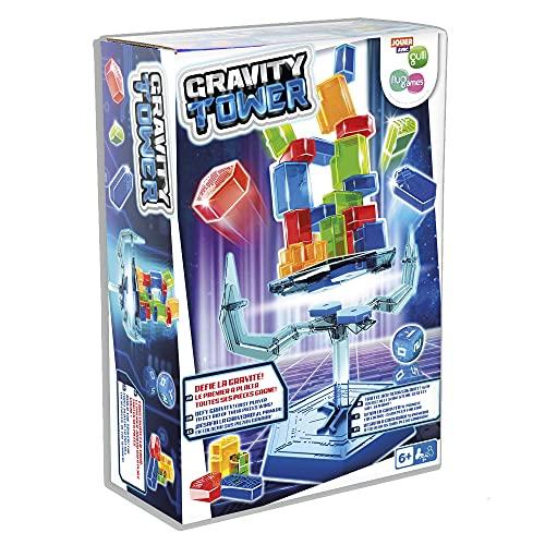 Fun Play BY IMC Toys Gravity Tower; Costruisci una torre con blocchi su una base galleggiante instabile, sfidando la gravità; divertente gioco educativo e di abilità per bambini dai 6 anni in su
