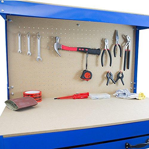 BITUXX® Werkbank Werktisch Arbeitstisch Arbeitsplatte Lochwand Schublade Werkstatt 80 x 50 x 140 cm - 6