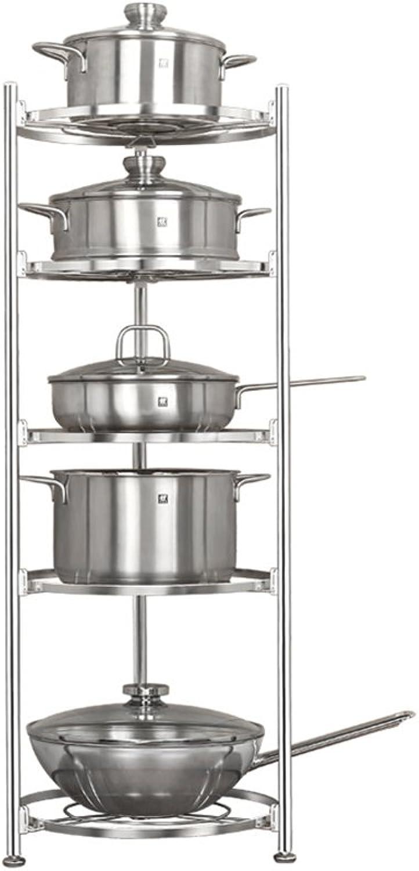 Jian E- Storage Rack - Floor-Standing Multi-Layer Kitchen Rack Stainless Steel Multi-Function Kitchen Five-Layer Storage Rack (Size  36X98.5cm)