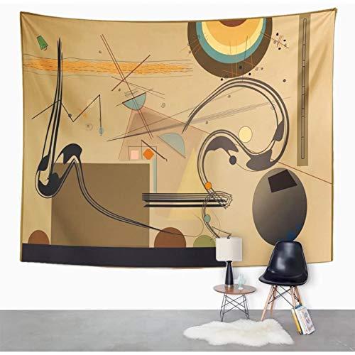 N / A Tapiz decoración del hogar Composición de Formas abstractas de Colores Escritorio sobre Tapiz marrón Claro Decoración del hogar Colgante de Pared para Sala de Estar Dormitorio Dormitorio