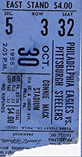 Philadelphia Eagles Ticket Stub 10/30/1955 vs Pittsburgh Steelers 142353