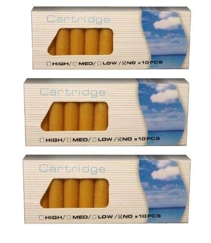 3er Sparpack = 3 x 10 Aromakapseln / E-Liquid Depots : verschiedene Geschmäcker // z.B. Vanille, Pina Colada, Banane, Apfel, Kirsche (Variationenset) für Ihre E-Zigarette, Clever Smoke, e-health,E-Wellness etc (BIRNE + CARAMEL + HONIGMELONE)