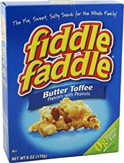 Fiddle Faddle Butter Toffee Popcorn with Peanuts (Six Boxes) by Fiddle Faddle
