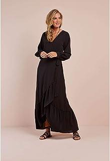 Vestido Longo Babado