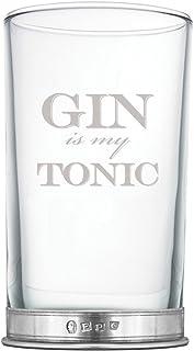 English Pewter Company 12oz Gin cristal grabado con es mi