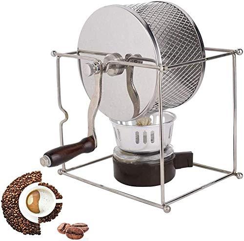 HAGENGOO DIY Mini Manuelle Kaffeeröster Edelstahlwalzen Mit Griff Home Kaffeebohnen Röster