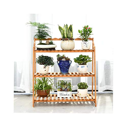 CXD Bamboe Ladder Multifunctionele Moderne Plant Flower Display Stand 3 Tier Indoor Storage Rack Boekenkast Boekenplank Natuurlijk bruin