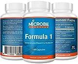 Microbe Formulas: Organic Formula 1- Intestinal Support - 120 Capsules - Organic Supplement - Dietary Supplement - Ayurvedic Medicine - Intestinal Detoxification - Healthy Intestinal Tract