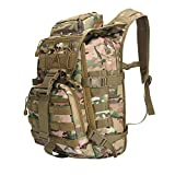 Sac à Dos Randonnee Yuan Ou Tactical Backpack Men Military Rucksack Oxford Bag Camping Hiking Fishing Hunting Bags Camo Outdoor Sports Sack CP