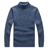 Jersey de punto para hombre con cuello alto básico para hombre (color: beige, talla: L)