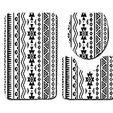 Dongbin Dreifarben-Druckvorrichtung Haushalts Bad Sanitärtoilettenmatten Teppichmatten Stark Absorbierende Baumwolle Flanell Anti-Skid Blockspeicher U-Förmigen,1,45 * 75cm