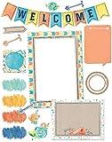 Eureka Confetti Splash Welcome Banner Back to School Bulletin Board Set and Classroom Decorations for Teachers, 34 pcs