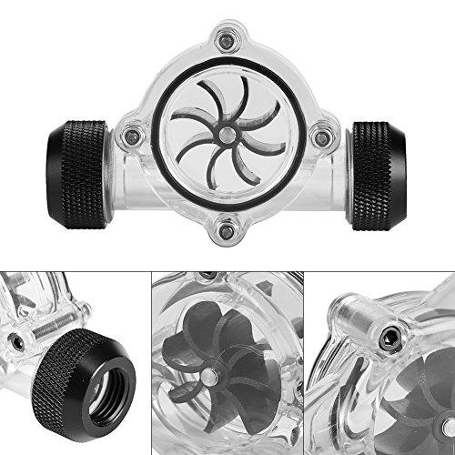 Black Blade Clear Hauptkörper-Durchflussanzeige, Wasserkühlungs-Durchflussanzeige, für Home for Pool(Black Interface)