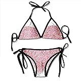 Corazón Rojo para el día de San Valentín Dos Piezas para Mujer Push Up Bikini Sets Trajes de baño con Shorts de baño