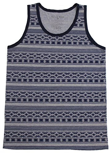 Marx & Dutch Fashion Graphic Geometric Printed Tank Tops Shirts 125201 Navy M