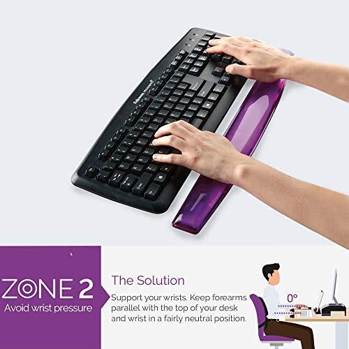 Fellowes Crystals Gel Mouse Mat with Wrist Support, Purple