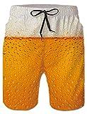 Rave on Friday 3D Druck Badehose für Herren Bier Beachshorts Schnell Trocknend Hawaii Beachshorts...