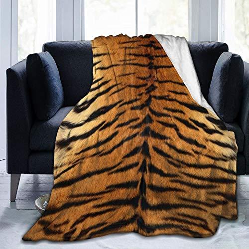 Wearibear Manta de franela de felpa de piel de tigre, súper sofá, divertida manta de cama, decoración del hogar, tapiz duradero, para camping, manta portátil y difusa para mujeres, hombres y niños