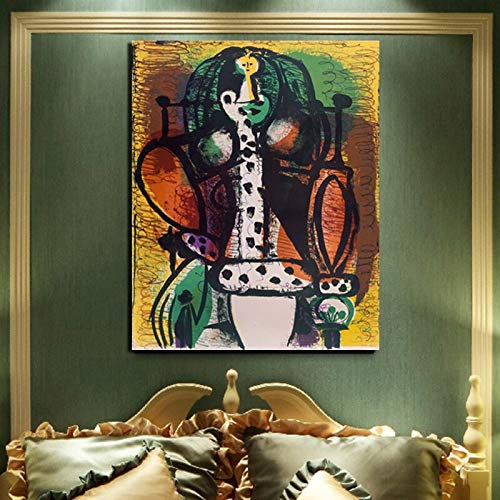 KWzEQ Wohndekoration des Wohnzimmers des Leinwandbildplakats des berühmten Künstlers, das Moderne Bildwand druckt,Rahmenlose Malerei,60x75cm