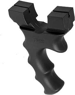 WDDZSD Traditional Flat Leather Slingshot Frame Non-Stainless Steel Free Tied Flat Rubber Band Slingshot Gun Outdoor Slingshot