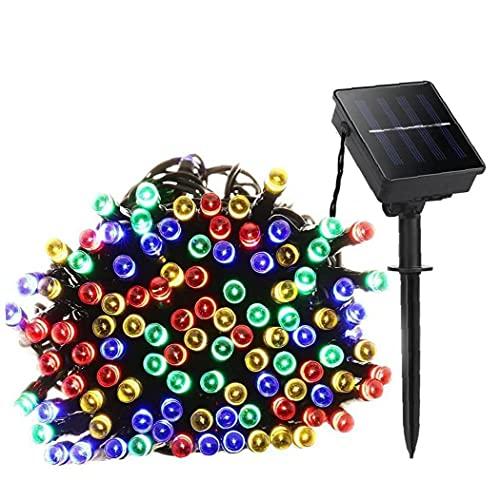 XKJFZ Solar Luces de Cadena Impermeable 200 LED de Cuerda Solar de la lámpara con la lámpara 8 Cuerdas Modos Hada Decorativa para el jardín Colorido, jardín Luces solares
