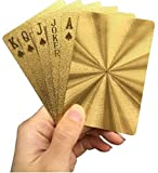 Luxury Waterproof Playing Cards Gold Foil Poker Cards Playing Cards Plastic Playing Cards (Solid Color)
