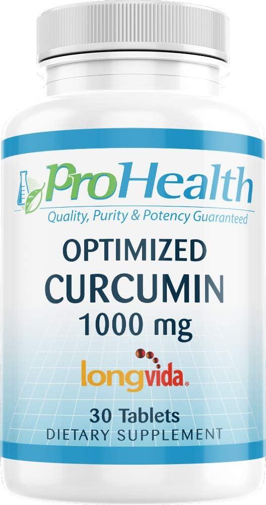 ProHealth Optimized Curcumin Denver Mall Longvida 1000 Complete Free Shipping Tablets mg 30