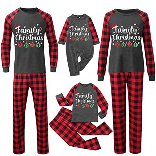 Weihnachts Pyjama Familie, Winter Warm Schlafanzug Damen Herren Jungen Mädchen,Ugly Christmas Pyjama Kostüm Hausanzug Nachthemd Weihnachtspyjama Weihnachtspulli Weihnachtskleidung