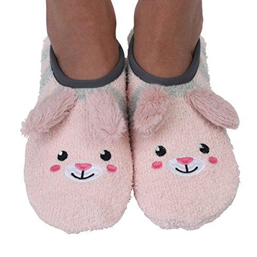 Snoozies Womens Mary Jane Fuzzy Animal Socks