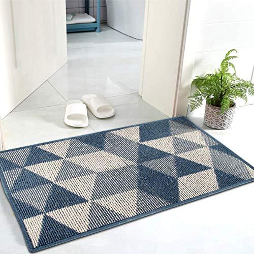 Esportic Schmutzfangmatte- 50 x 80 cm Fußmatte mit äußerst Starker Feuchtigkeitsaufnahme -Eingangsmatte/Fußabstreifer, Rutschfester Gummi-Einstiegsteppich Türvorleger für innen und außen