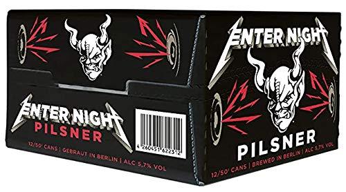 Cerveza Enter Night Pilsner - Stone Brewing y Metallica - Pack de 12 latas 0,50l.