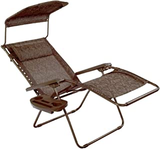 Bliss Hammocks Gravity Recliner W/Covered Bungee, Brown Jacquard