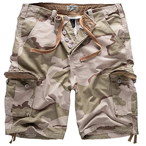 Surplus Vintage Short Motif de Camouflage, Couleur Beige L Multicolor - 3 Farben Desert